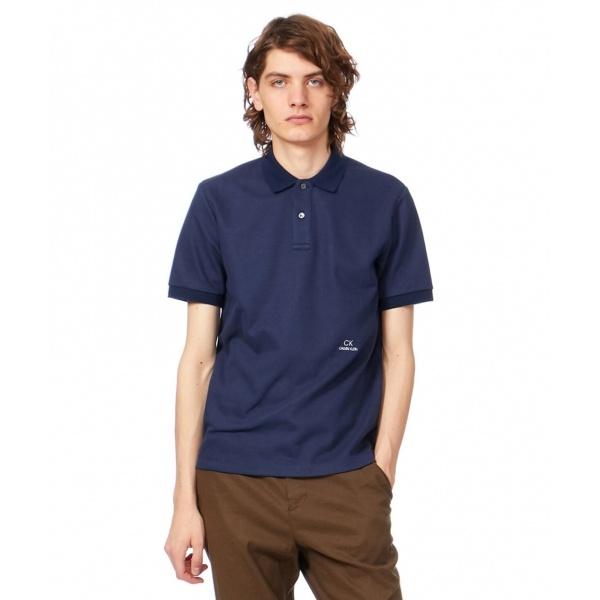【ロゴ入り】シャンブレーメッシュチャンキーピケ ポロシャツ/カルバン・クライン メン(Calvin Klein men)
