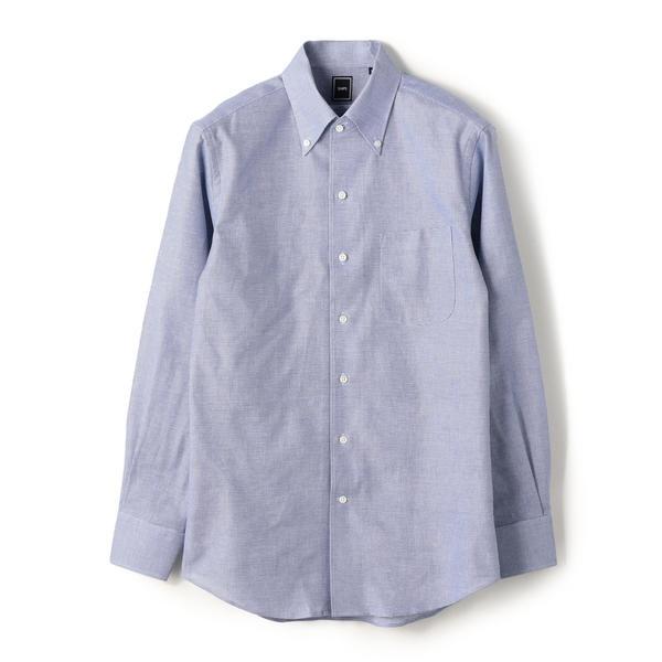 SD: 【MONTI社製生地】カラミ イタリアンボタンダウン シャツ(ブルー)/シップス(メンズ)(SHIPS)