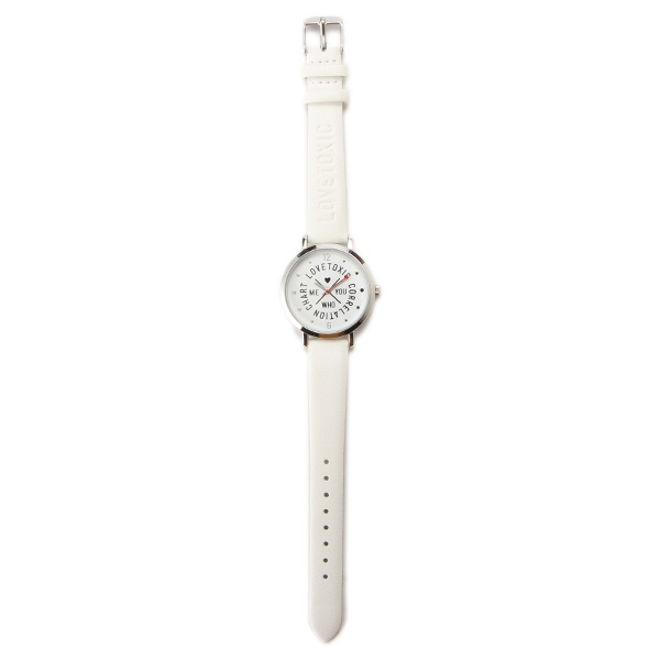ロゴ型押し腕時計/ラブトキシック(Lovetoxic)