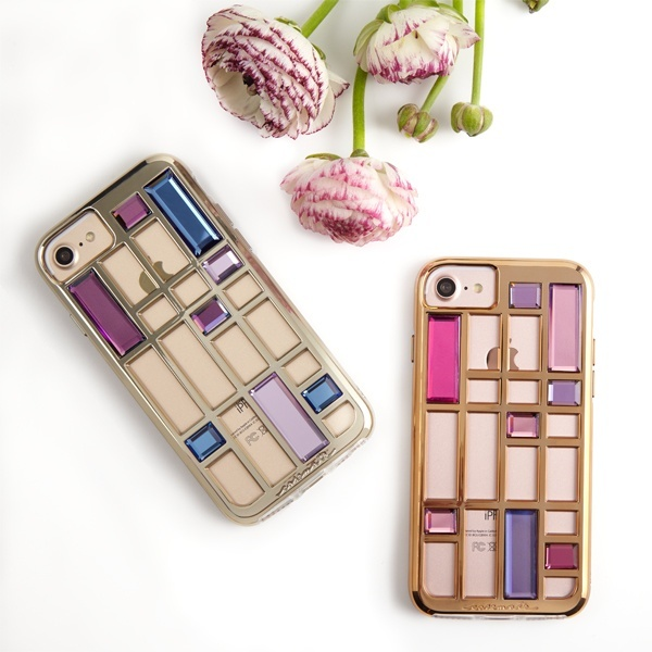 iPhoneSE(第2世代) 対応ケース Caged Crystal Case-Gold/ケースメイト(Case-Mate)