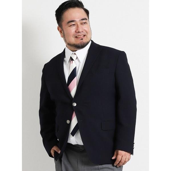 【大きいサイズ】グランバック/GRAND-BACK ウール混コーデュラ 2釦シングルジャケット/グランバック(GRAND-BACK)[大きいサイズの店]