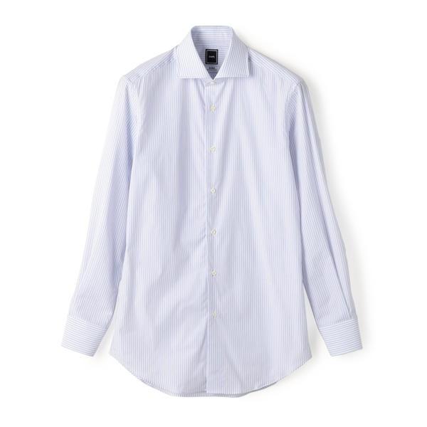 SD: 【GIZAコットン】ピンストライプ ホリゾンタルカラー シャツ(ライトブルー)/シップス(メンズ)(SHIPS)