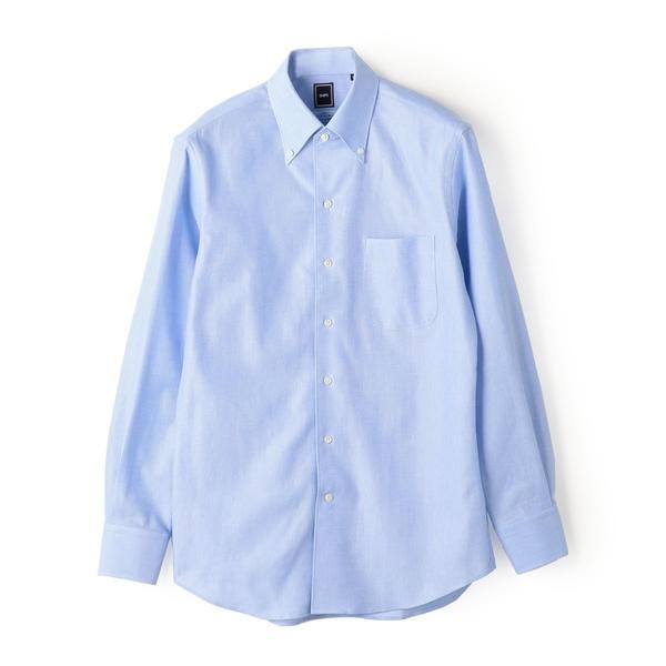SD:【MONTI社製生地】カラミ イタリアンボタンダウン シャツ(ライトブルー)/シップス(メンズ)(SHIPS)