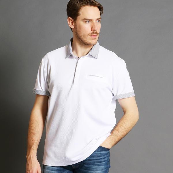 <大きいサイズ>半袖ポロシャツ/ムッシュニコル(セレクト)(MONSIEUR NICOLE SELECT)