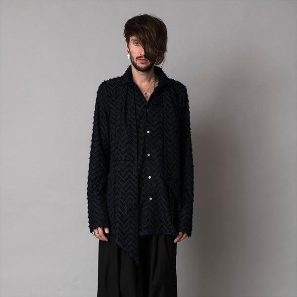 フリンジJQストール付ロングシャツ/ノーアイディー(NOID)
