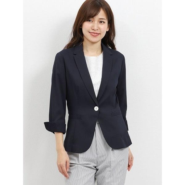コードレーン 1釦7分袖テーラージャケット 紺/m.f.エディトリアル(m.f.editorial)