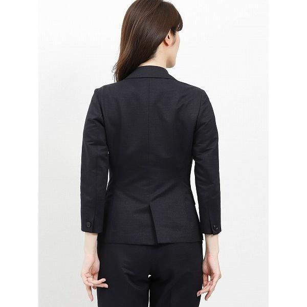 m.f.エディトリアル パリネクールドッツ セットアップ1釦七分袖ジャケット (m.f.editorial) 紺/