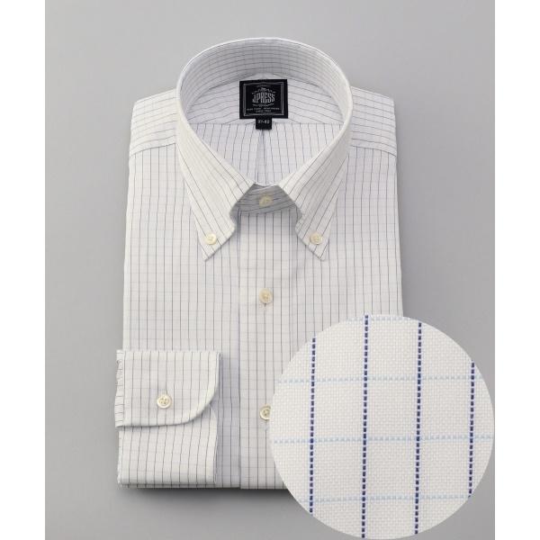 【形態安定】PREMIUM PLEATS ストレッチグラフチェック ドレスシャツ/ジェイ・プレス メン(J.PRESS MEN)