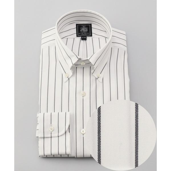 【形態安定】PREMIUM PLEATS ストレッチブッチャーストライプ ドレスシャツ/ジェイ・プレス メン(J.PRESS MEN)