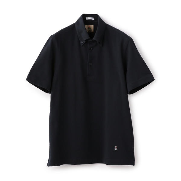 GUY ROVER: カノコ カッタウェイ ソリッド ボタンダウン ポロシャツ(ネイビー)/シップス(メンズ)(SHIPS)