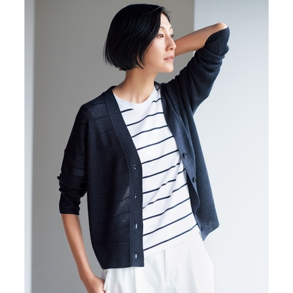 【亜希さん着用】コットンモダール ジャージーTシャツ(検索番号F49)/自由区(JIYUKU)