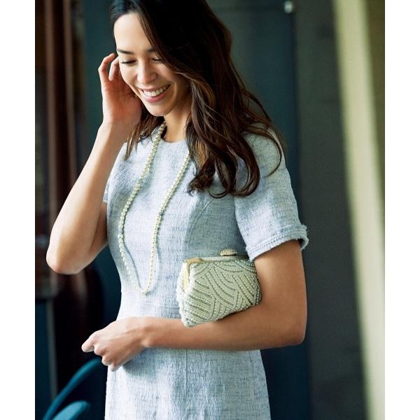 【マガジン掲載】Brilliant tweed dress ワンピース/23区 L(NIJYUSANKU L)