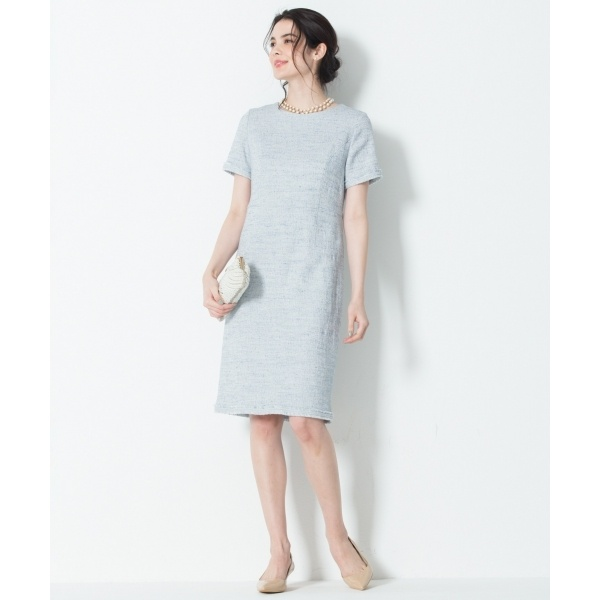 【マガジン掲載】Brilliant tweed dress ワンピース/23区 S(NIJYUSANKU S)