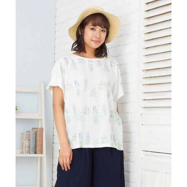 【21号(6L)~】【大きいサイズ】刺繍カットソー/サブストリート(21号~)(sab street)
