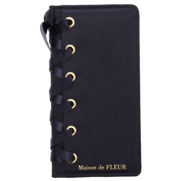 ブランドロゴレースアップアイフォンX/XSケース/メゾン ド フルール(Maison de FLEUR)
