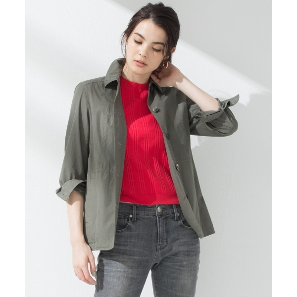 【マガジン掲載】CANCLINI 製品染めシャツジャケット(検索番号H35)/23区 L(NIJYUSANKU L)
