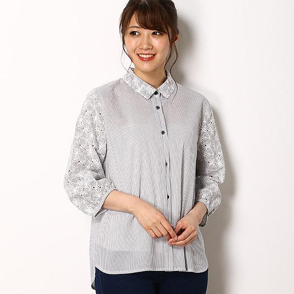 ストライプ花柄刺繍 シャツ/セシオセラ(CECI OU CELA)