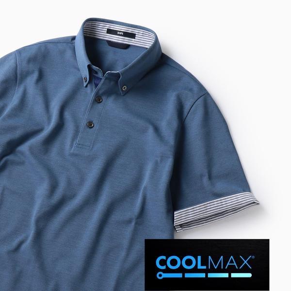 SC: COOLMAX(R) コットン/リネン カノコ ボタンダウン ポロシャツ/シップス(メンズ)(SHIPS)