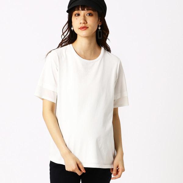 (マタニティ)ロゴプリントTシャツ/コムサブロンドオフ(COMME CA BLANC D'OEUF)