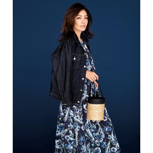 【亜希さん着用】フラワーペイズリープリント ドレス(検索番号F39)/自由区 L(JIYUKU L)