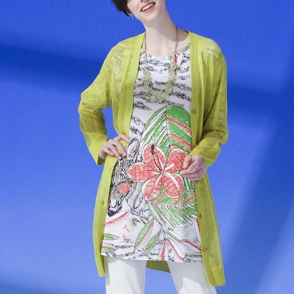 ゼブラジャングルプリント チュニックTシャツ【大きいサイズ】/リリアンビューティー(Liliane Burty)