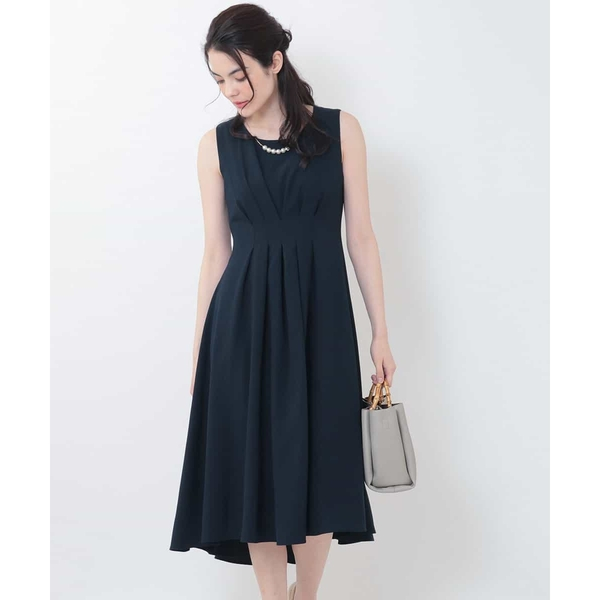 ネックレス付きタックデザインドレス/オフオン(OFUON)