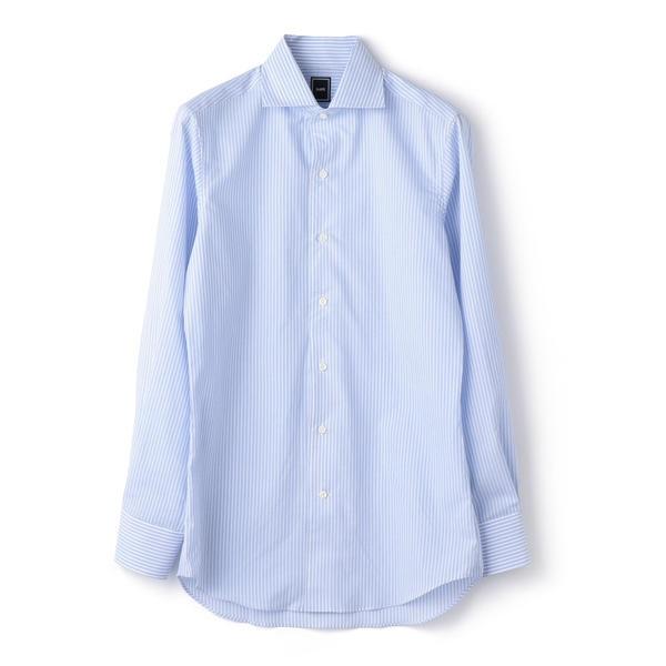 SD: ロングストライプ ワンピースカラー シャツ(ライトブルー) /シップス(メンズ)(SHIPS)