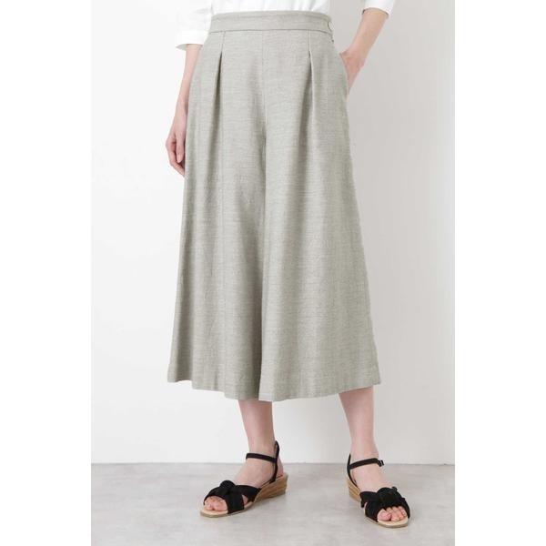 ≪Japan couture≫撚杢コットンツイルキュロット/ヒューマンウーマン(HUMAN WOMAN)