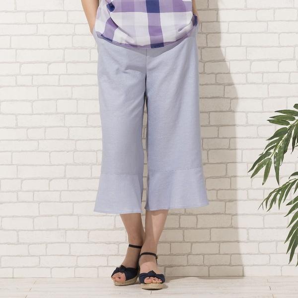 [大きいサイズ]オクシージュエル・裾フレアセミワイドパンツ[セットアップ対応]/ピサーノ(PISANO)