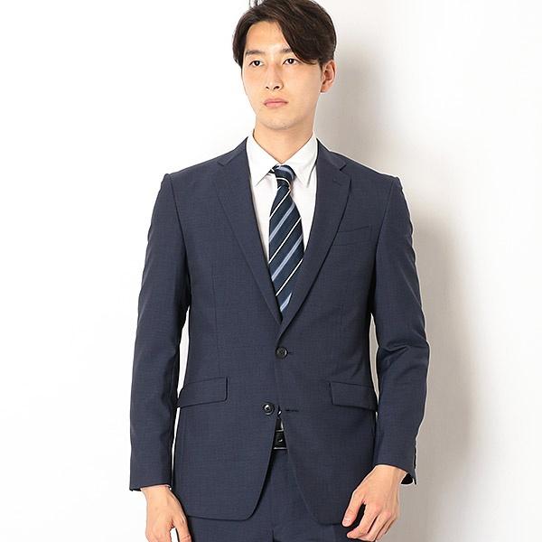 2釦シングルスーツ 0タック/紺×黒ミニチェック/ウォッシャブルパンツ 【KSW MODEL】/スーツセレクト(メンズ)(SUIT SELECT)