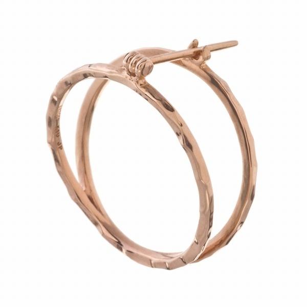 10金サークルピアス/エレノアジュエリー(Elenore Jewelry)