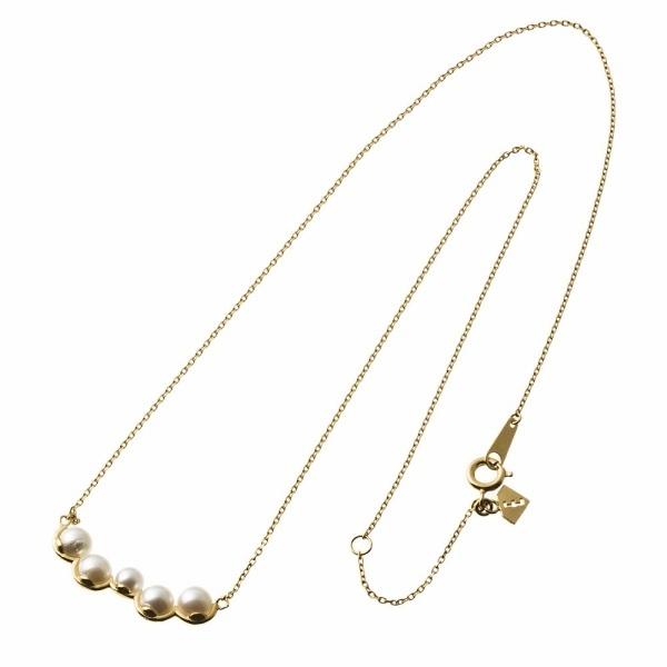 ランダムパールバーネックレス(K18メッキ)/エレノアジュエリー(Elenore Jewelry)