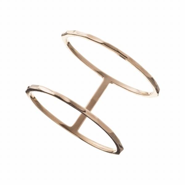 10金ダブルリング/エレノアジュエリー(Elenore Jewelry)