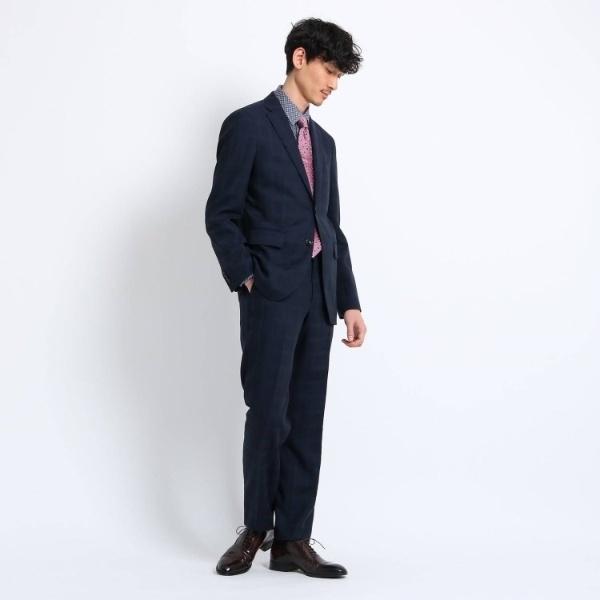 【PNJ】シャドーチェックベンバックスーツ[ メンズ スーツ ビジネス 日本製 ]/タケオキクチ(TAKEO KIKUCHI)