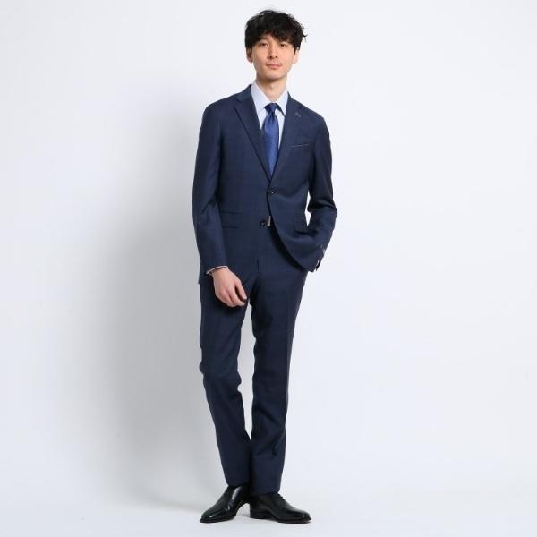 チェック 2Bスーツ Fabric by REDA/タケオキクチ(TAKEO KIKUCHI)
