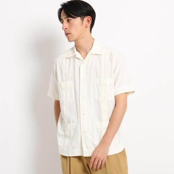 MONITALY ダブルライン半袖シャツ/ドレステリア(メンズ)(DRESSTERIOR Mens)