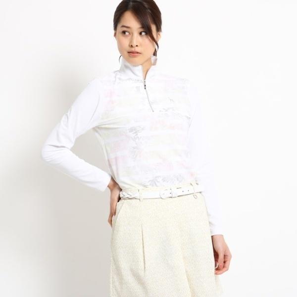 【UVカット】【防透け】ボタニカル長袖ポロシャツ レディース/アダバット(レディス)(adabat(Ladies))