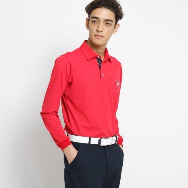 【吸水速乾】【UVカット】胸ポケット付き長袖ポロシャツ メンズ/アダバット(メンズ)(adabat(Mens))