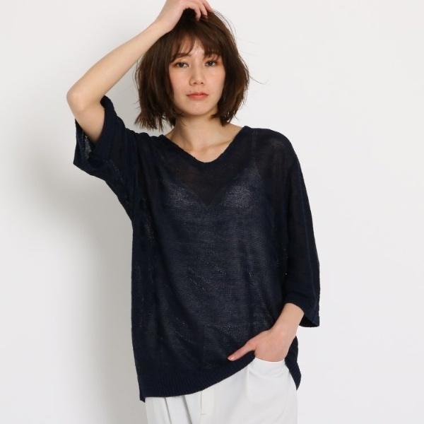 洗える レーヨン麻ゼブラニット クード シャンス COUP DE CHANCEYyg6bf7