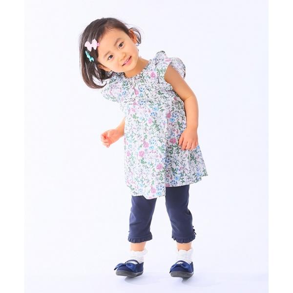 【80~100cm】ナチュラルフラワー チュニック/組曲 キッズ(KUMIKYOKU KIDS)