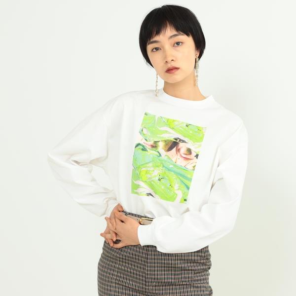 Name. × Ray BEAMS / 別注 グラフィック ペイント ロングスリーブ Tシャツ/レイ ビームス(Ray BEAMS)