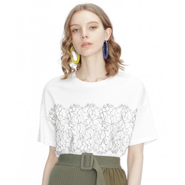 リバーレースTシャツ/グレースコンチネンタル(GRACE CONTINENTAL)