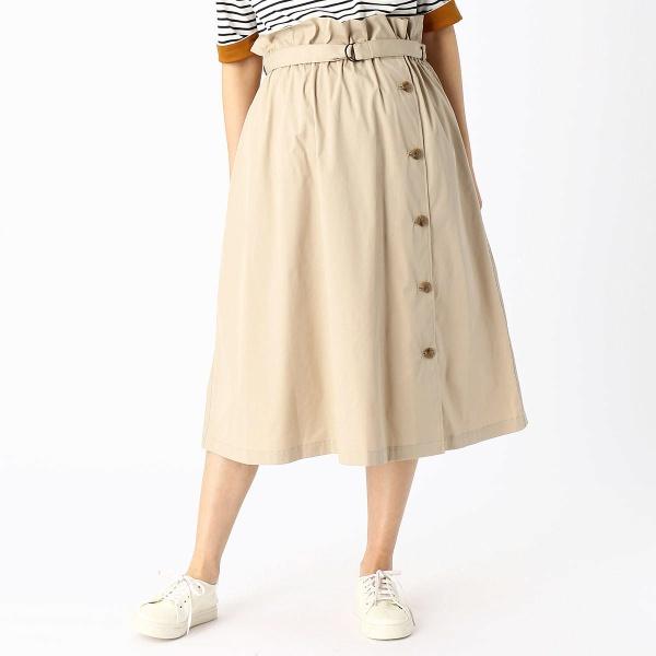 (マタニティ)ベルト付きラップ風スカート/コムサブロンドオフ(COMME CA BLANC D'OEUF)