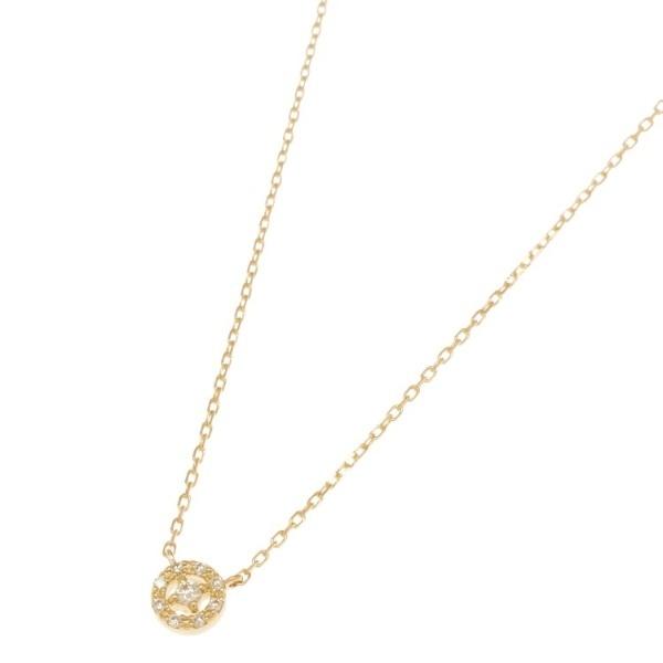 K18ダイヤモンド 透かし取り巻き ネックレス/ココシュニック(COCOSHNIK)