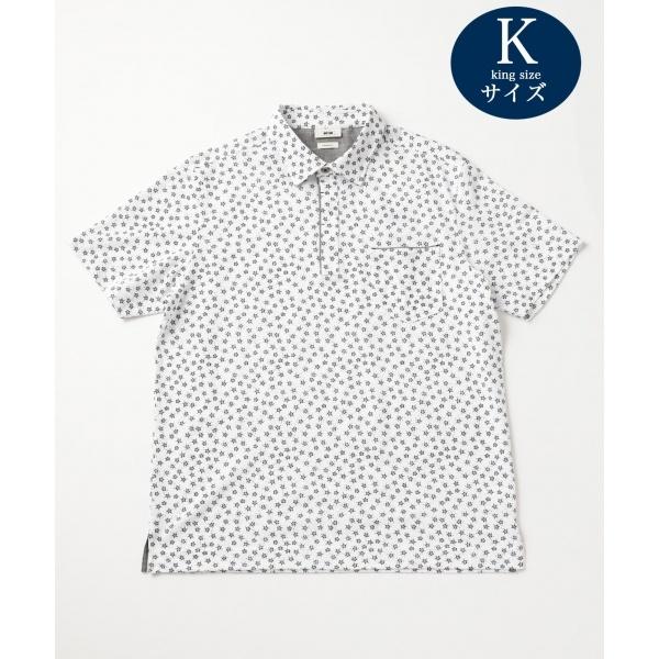 【キングサイズ】OGスラブフラワープリント ポロシャツ/ジョセフ アブード(JOSEPH ABBOUD)