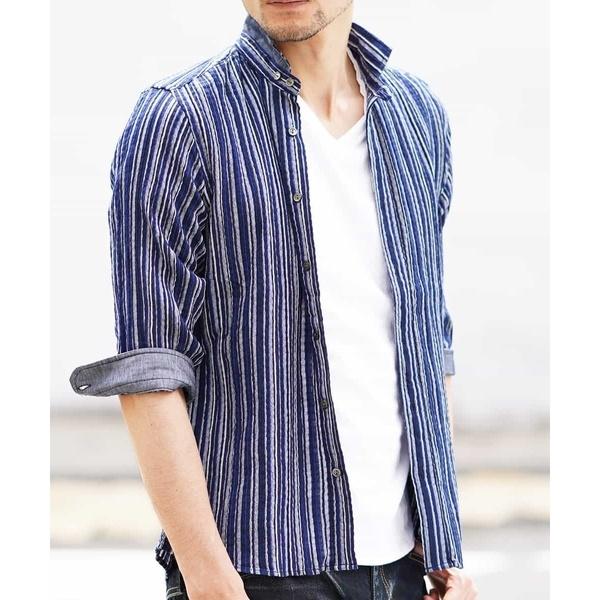 HOMME) KLEINシャツ(モダールドビーストライプ)/ミッシェルクランオム(MICHEL KLEIN HOMME), 【銀座パリス】:885393d7 --- officewill.xsrv.jp