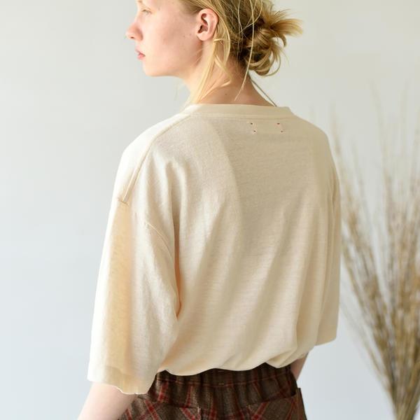 【unfil】フレンチリネン オーバーサイズTシャツ WOMEN/ビショップ(レディース)(Bshop)