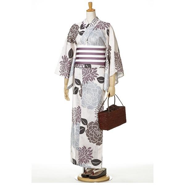 縞に大花/綿経スラブ【単品】/撫松庵(BUSHOAN)