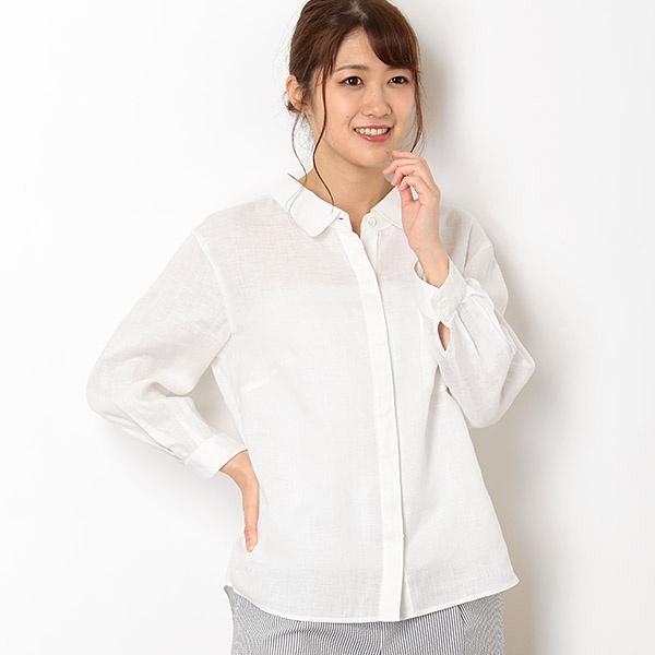 リネンボイル製品染めシャツ /ミキシングブルー(Mixing blue)