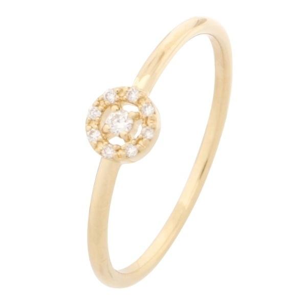 K18ダイヤモンド 透かし取り巻き リング/ココシュニック(COCOSHNIK)
